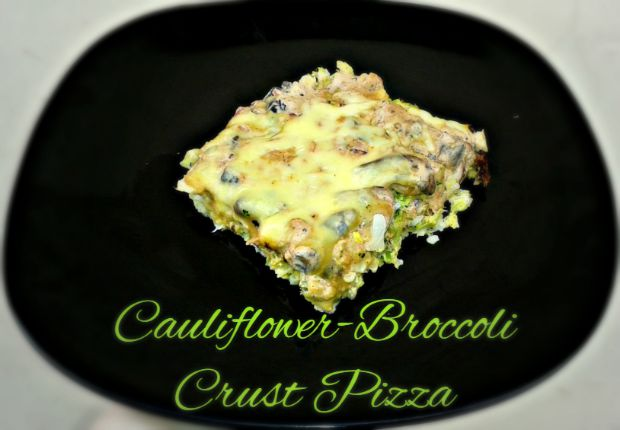 Cauliflower-Broccoli Crust Pizza - Anna Can Do It!