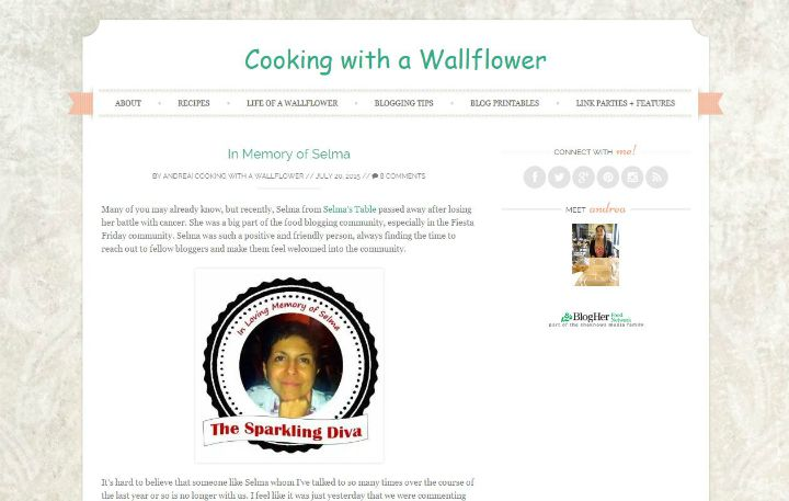 Cooking with a Wallflower