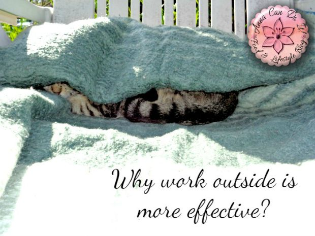 Why work outside is more effective? - Omelette Breakfast - Anna Can Do It!