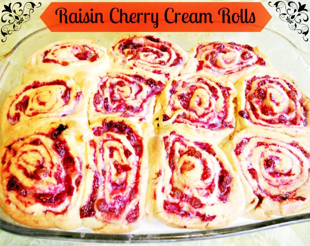 Raisin Cherry Cream Rolls - Anna Can Do It!