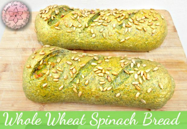Whole Wheat Spinach Bread - Anna Can Do It!