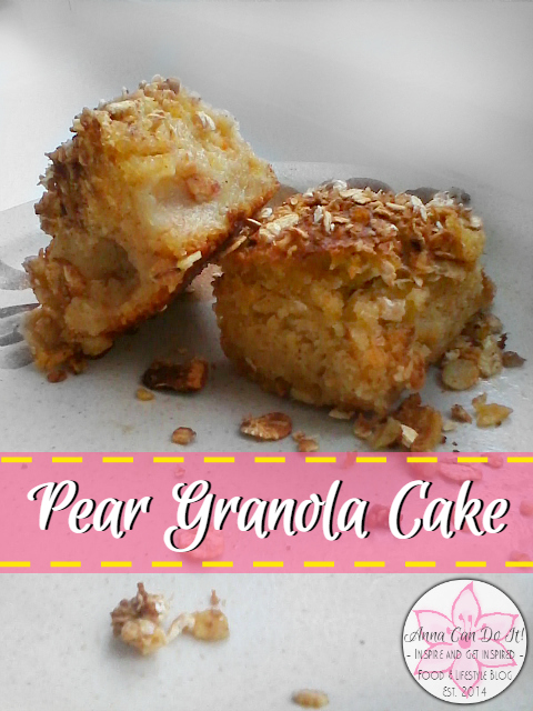 Pear Granola Cake - Anna Can Do It!