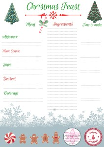 Christmas Feast - Christmas Meal Planning - Anna Can Do It!