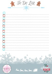 To Do List - Christmas To Do List Free Printable - Anna Can Do It!