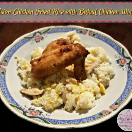 Asian Chicken Fried Rice with Baked Chicken Wings – Healthy New Year Six-Week Challenge Week 2