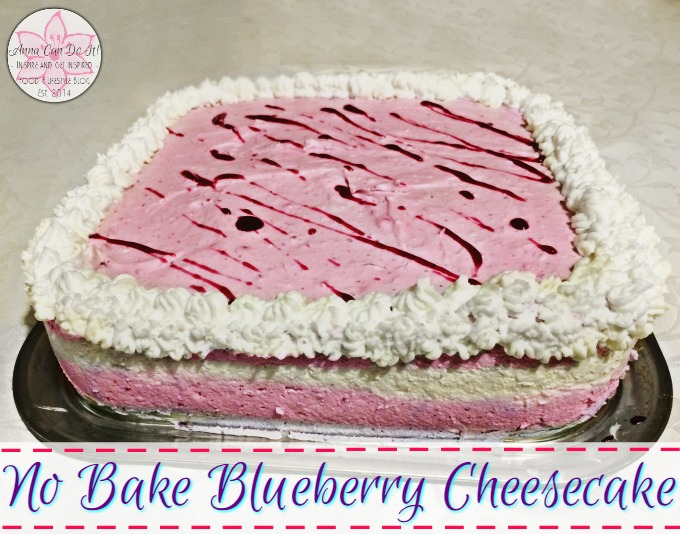 No Bake Blueberry Cheesecake - Anna Can Do It!