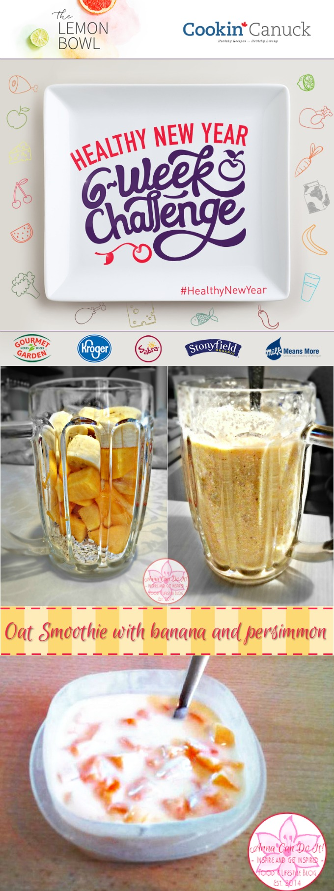 Oat Smoothie - Healthy New Year Six-Week Challenge Week 1 - Anna Can Do It!