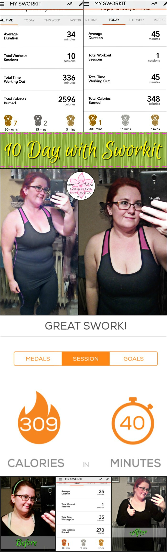 10 Day with Sworkit - Anna Can Do It!