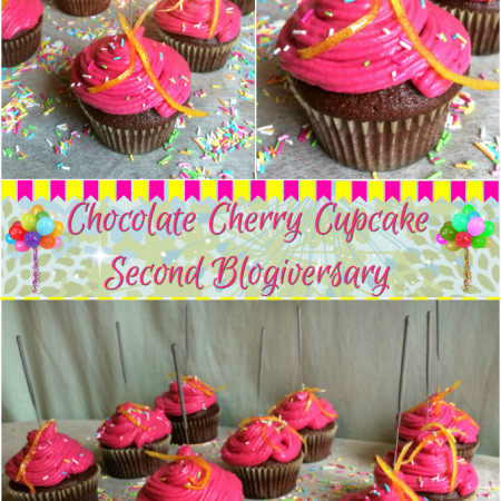 Chocolate Cherry Cupcake – Second Blogiversary