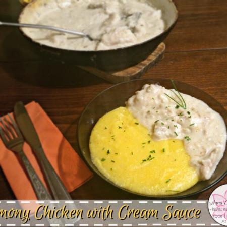 Lemony Chicken with Cream Sauce – Healthy New Year Six-Week Challenge Week 4