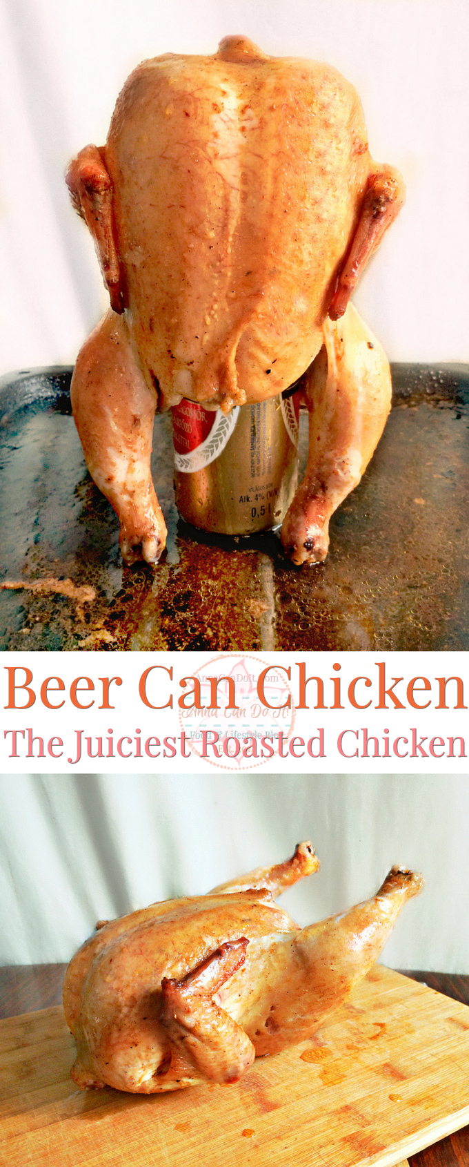 Beer Can Chicken - The Juiciest Roasted Chicken - Anna Can Do It!