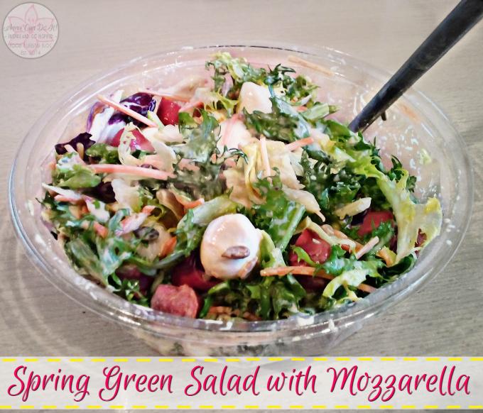 Spring Green Salad with Mozzarella - Anna Can Do It!