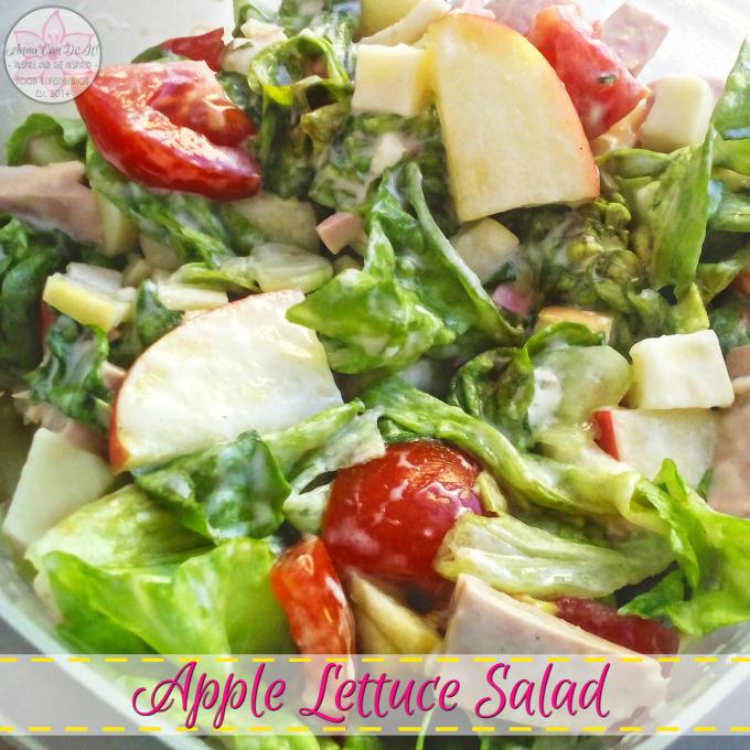 Apple Lettuce Salad - Anna Can Do It!