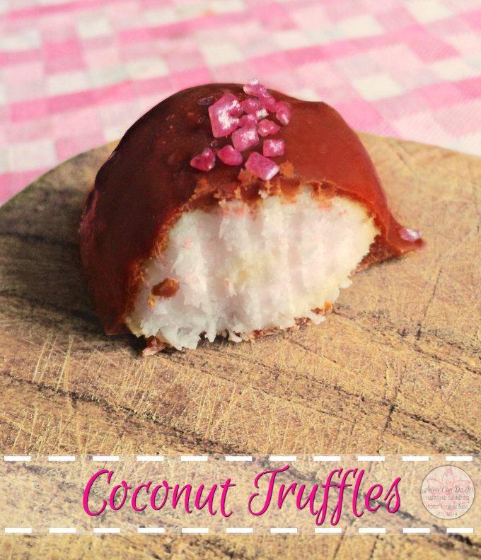 Coconut Truffles - Anna Can Do It! * These easy, creamy, amazing, chocolate covered Coconut Truffles melts in your mouth, you can't eat just one!