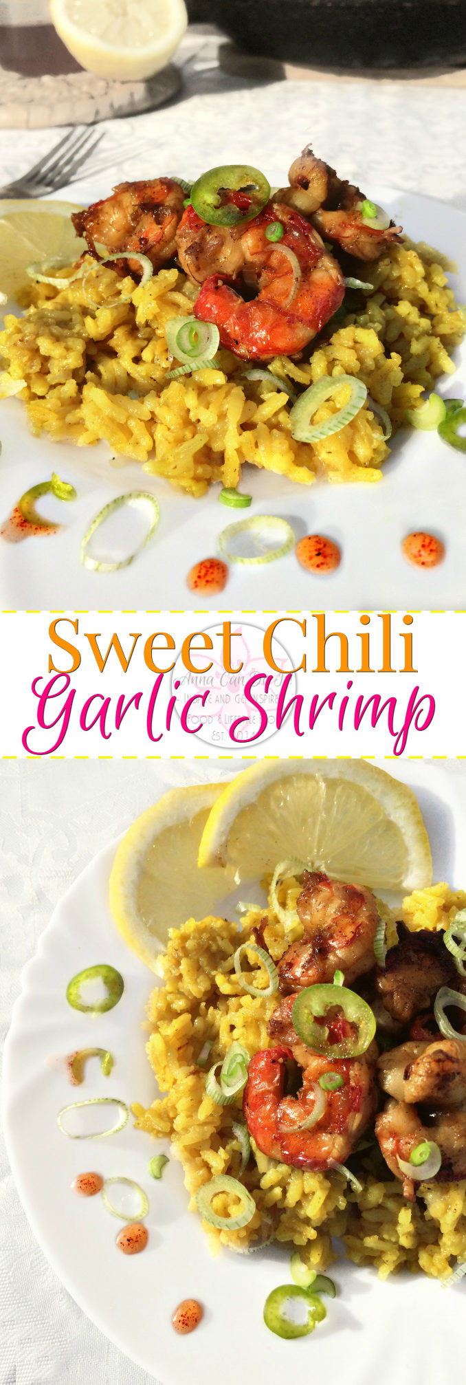 Sweet Chili Garlic Shrimp - Anna Can Do It! * Sweet Chili Garlic Shrimp is so easy and quick, heavenly delicious and full of flavors. The sweet chili sauce add the perfect hotness to the garlic lemon shrimps.