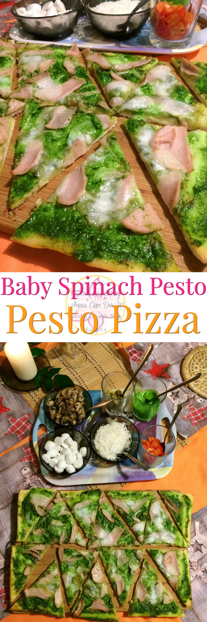 Baby Spinach Pesto - Pesto Pizza - Anna Can Do It! - Spinach Pesto is the pure green gold and now my family's favorite! This pesto is made with baby spinach and cashews. Spinach pesto is so simple to make and so tasty, you'll put it on everything!