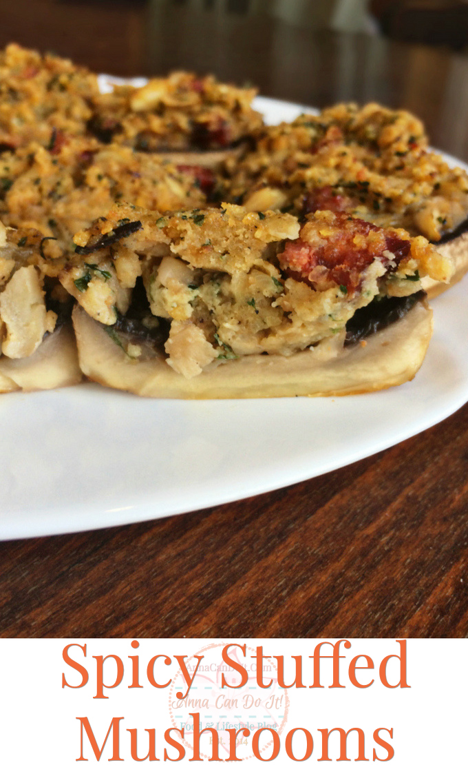 Spicy Stuffed Mushrooms - Perfect Bite Size Appetizers - Anna Can Do It!