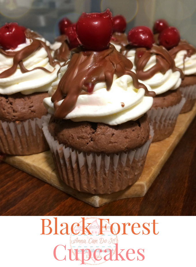 Black Forest Cupcakes - Third Blogiversary - Anna Can Do It!