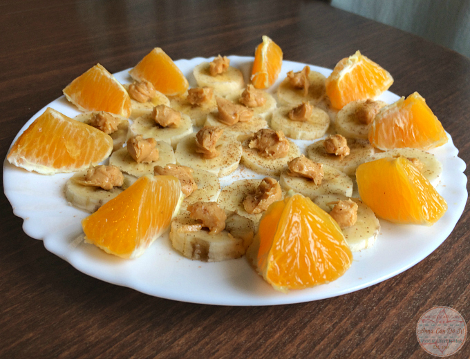 Healthy Snacks - Anna Can Do It! Orange, Peanut Butter and Banana Bites