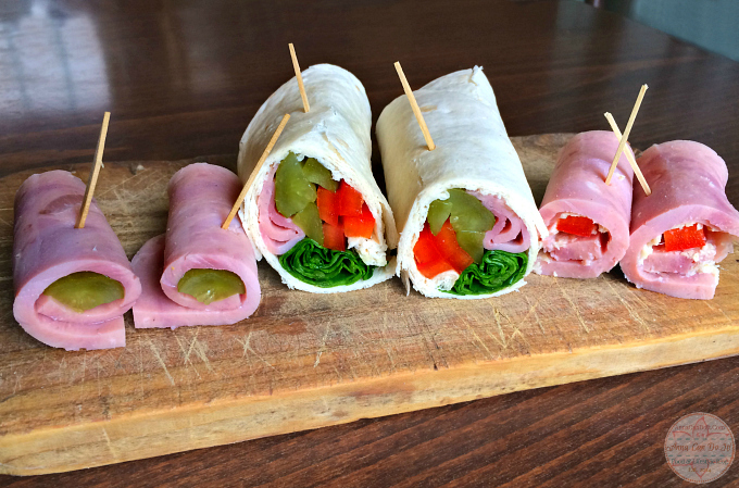 Healthy Snacks - Anna Can Do It! - Ham and Tortilla Rolls